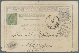"""1924 4p Blue Stationery Card To Germany Cancelled By Oval Native Datestamp, Manuscript """"Germany Over India"""" And... - Afghanistan"""