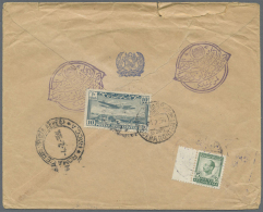 1954 Registered Airmail Cover From Kabul To Moscow Via Bombay And Italy, Franked On The Reverse With 1951 Air 10a.... - Afghanistan