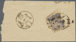 1909, 1ab. Ultramarine, Single Franking On Reverse Of Cover (roughly Opened). (D) - Afghanistan