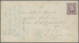 """1897, 25c Stationery Envelope Addressed In French """"To His Royal Highness, Emir Of Affghanistan, At Caboul,... - Afghanistan"""