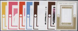 1971, GREAT OLYMPIC CHAMPIONS, Jim Thorpe - 8 Items; Progressive Plate Proofs Forthe Single Stamp's Souvenir Sheet... - Manama