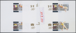 1971, OLYMPIA 1960-1976: CHAMPIONS, Pentathlon, Javelin - 9 Items; Collective, Progressive Single Die Proofs For... - Ajman