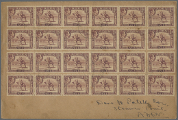1939 Cover From Aden To Aden-Steamer Point Franked By 24 Copies Of ¾a. Red-brown (four Strips Of 5 And Four... - Aden (1854-1963)