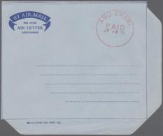 "1971, Red One Circle ""ABU DHABI PAID 27 AU 71"" On Unused Air Letter. (ex J. Kasper Collection) (R) - Abu Dhabi"