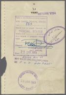 1969/1985, Abu Dhabi/Dubai/UAE, Lot Of 3 Passport Pages Showing Visas, One With Fiscal Franking. (R) - Abu Dhabi
