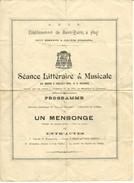 Huy établissement Saint Quirin Séance Littéraire Et Musicale  3 Juillet 1894 Voir Noms Des Acteurs Au Verso Doc Rare - Hoei