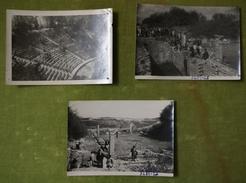 Lot De 3 Petites Photos Du 24 Aout 1952 - Alésia - Lieux
