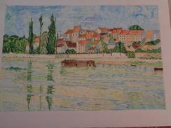 Carrières De Saint-Denis.D'après Claude Monet.La Feuille :480 X 340 Mm.Acrylique Sur Papier Par Debeaupuis.1976 - Acryliques