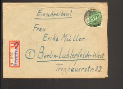 Alli.Bes.84 Pfg.Ziffer Auf Einschreiben-Fernbrief Aus Owschlag V. 1946 M.Not-R-Zettel V.Kiel-Wik Einkreis-Gitterstempel - Gemeinschaftsausgaben