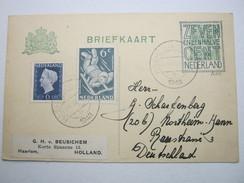1948 , Ganzsache Nach Deutschland Verschickt - Periode 1891-1948 (Wilhelmina)