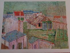 La Maison De Berlioz.D'après Maurice Utrillo.La Feuille :450 X 320 Mm.Acrylique Sur Papier Par Debeaupuis.1980 - Acryliques