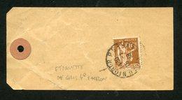 Paix N° 364: ETIQUETTE De COLIS Pr PAQUET NON CLOS 4°échelon Du 15/1/1938 Pr L'Intérieur - 1921-1960: Période Moderne