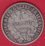 France 1 Franc Cérès 1895 A - H. 1 Franco