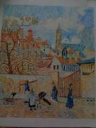 Le Parc Aux Charrettes,Pontoise.D'après Camille Pissaro.la Feuille:570 X 465 Mm.Acrylique Sur Papier Par Debeaupuis.1982 - Acryliques
