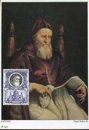 18053 Vaticano,  Maximum 1959 Painting Of Raffael Raphael, The Pope's Julius II   Pape Jules - Cartoline Maximum