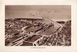 PAS DE CALAIS, LE PORT DE BOULOGNE, Animée,  Planche Densité = 200g, Format 20 X 29 Cm, (A. Moreau) - Géographie