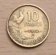 10 Francs Guiraud 1954 B - France
