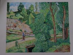 La Carrière,Pontoise.D'après Camille Pissaro.la Feuille:550 X 440 Mm.Acrylique Sur Papier Par Debeaupuis.1976 - Acryliques