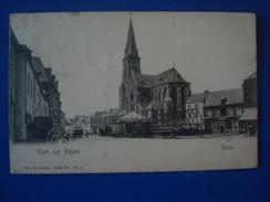 HAM-SUR-HEURE : L'église Et La Foire En 1919 - Ham-sur-Heure-Nalinnes