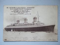 """LE HAVRE / LE GRAND PAQUEBOT """"NORMANDIE"""" / COMPAGNIE GENERALE TRANSATLANTIQUE / 1937 / ELD - Paquebots"""