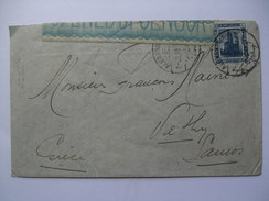 EGYPT 1918 COVER ALEXANDRIA TO VATHY SAMOS GREECE WITH CENSOR TAPE AND EGYPTIAN AND GREEK CENSOR CACHETS