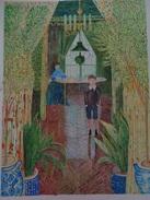 Coin D'Appartement.D'après Claude Monet .la Feuille:620 X 465 Mm.Acrylique Sur Papier Par Debeaupuis.1981 - Acryliques