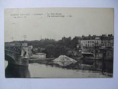 FRANCE COMPIEGNE WW1 CEnsOR CARD 1917 LE PONT DETRUIT / THE DESTROYED BRIDGE - Compiegne