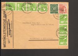 Alli.Bes.13 X 10 U.60 Pfg.Arbeiter U.50Pfg.Ziffer Zehnfach-Frankatur V.22.4.36 (Stempelirrtum) A.Fernbrief V.Wesselburen - American,British And Russian Zone