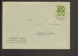 Bizone 10 Pfg.Arbeiter Netzaufdruck Auf Ortsbrief V. Nürnberg V 8.9.1948 - Bizone