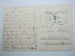 1915 , Bahnhofs -Kommandantur  , Longwy , Carte Postale Militaire - Postmark Collection (Covers)
