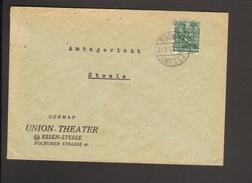 Bizone 16 Pfg.Arbeiter Netzaufdruck A.Ortsbrief V.Essen-Steele 1 V 21.8.1948 - Zona Anglo-Americana