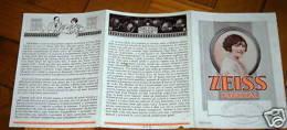 Lenti ZEISS PUNKTAL Catalogo Pubblicità 1910/20 Ca - Unclassified