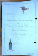 Menù 1924 Pubblicità Acqua S. Pellegrino Stella Rossa - Vieux Papiers