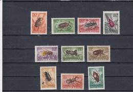 Hongrie - Neufs** - Année 1954 - Insectes Divers - YT PA 160/169