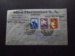 Cover Chili Chile Silva Hermanos Air Mail Royal Hotel Peru 1936 - Postzegels