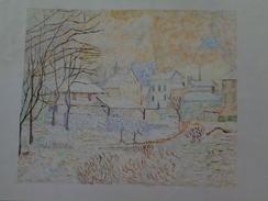 Effet De Neige,soleil Couchant.D'après Claude Monet .la Feuille:450 X 320 Mm.Acrylique Sur Papier Par Debeaupuis.1974 - Acryliques