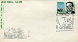 18060 Uruguay, Fdc 1971, Merinos,sheep(wool) Ovine (laine) Merinoschaf (feinwoll) - Ferme