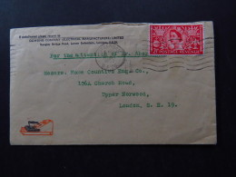 R-Cover England Great Britain United Kingdom Ironing Sydenham 1953 - Stamps