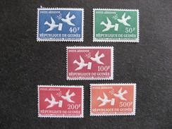 GUINEE : TB  Série PA N° 4 Au N° 8, Neufs X. - Guinée (1958-...)
