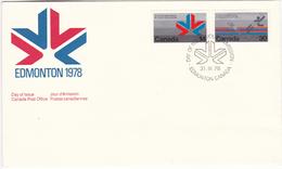 846 Badminton Competition 1978 Commonwealth Games Edmonton FDC