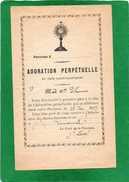 ADORATION PERPETUELLE Du TRES SAINT SACREMENT En Date Du 19 Déc 1897    Image  2 Volets - Images Religieuses