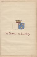 Manuscrit Généalogie Héraldique De Bissy De Cambry De Baudimont App. Moreau De Belaing Vieilleuse De La Roche Chabrières - Manuscrits