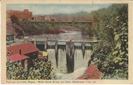 Pont Sur Magog - Wolfe Street Bridge And Dam, Sherbrooke, P. Q. - 18 - Ed. The Photogelatine Engraving Co., Toronto - Sherbrooke