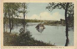 The Cross On The Lone Pine Rock, Sherbrooke, P. Q. - 9 - Ed. The Photogelatine Engraving Co., Toronto - Sherbrooke
