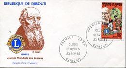 18074 Djibouti,  Fdc  1985  Dr. Hansen,  Lepra Day,  Journè Mondiale Des Lepreux - Malattie