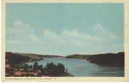 Rivière Saguenay à CHICOUTIMI, P. Q., 36 - Ed. Photogelatine Engraving Co., Toronto - Chicoutimi