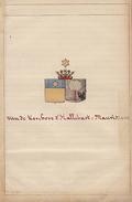 Manuscrit Généalogie Héraldique Van De Kerchove DHallebast De Maurissens App. De Pape Jacquerie De Gouy ... - Manuscrits