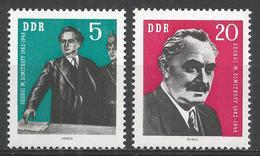 German Democratic Republic 1962. Scott #609-10 (MNH) George Dimitrov (1882-1949) * Complet Set - [6] République Démocratique