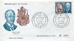 18086  Niger,  Fdc  1973  Rudolf Diesel,  60th Anniversary Of Death - Autos