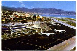 06 NICE ++ Vue Aérienne De L'Aéroport - Restaurant, Tour De Contrôle Et Les Avions Au Parking ++ - Luftfahrt - Flughafen